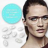Ovale Silikon Brillen Nasenpads #2 / Brillenpads Klicksystem 15 mm / 0.6' 10 paar