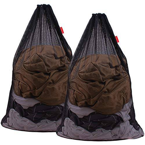 DuomiW Mesh Laundry Bag Heavy Duty Drawstring Bag, Factories, College,...