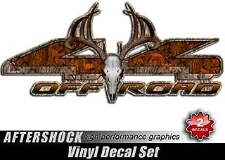 4x4 Buck Skull Truck Decal Archery Camo Orange Deer Sticker Set