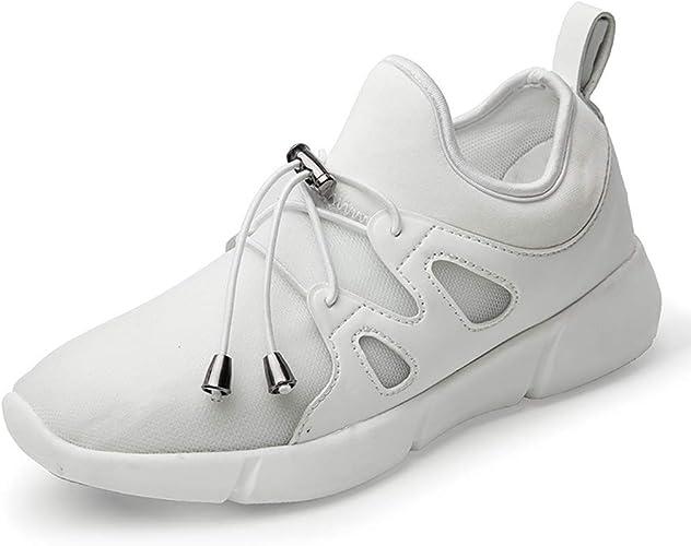 Mzq-yq Chaussures éclairantes en Fibre Optique, Chaussures pour Enfants, Mailles pour Hommes et Femmes, Chaussures de Sport pour étudiants, lumières Couleurées, Absorption des Chocs
