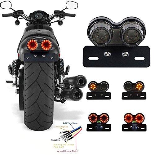 zreal Indicateur de modification de la lumière de frein arrière à LED pour moto universel