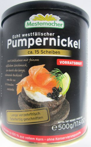 Mestemacher Echt westfälischer Pumpernickel 500g Dose