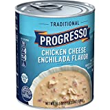 Progresso Soup, Traditional, Chicken Cheese Enchilada Flavor, Gluten Free, 18.5 oz Cans (Pack of 12)