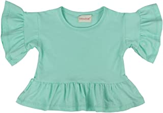 Wennikids Little Girls' Double Ruffle Solid Tank Top