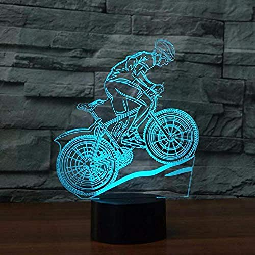 Night Light 3D Table Lamp Mountain Bike Desk Lamp 7 Color Changing Led USB Table Lamp Novelty Veilleuse Enfant 3D Light Fixtures 3D Night Light