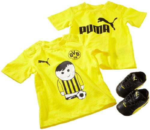 PUMA Baby Set BVB King Finale Crib Pack, Black-Blazing Yellow, 2/68, 102838 01