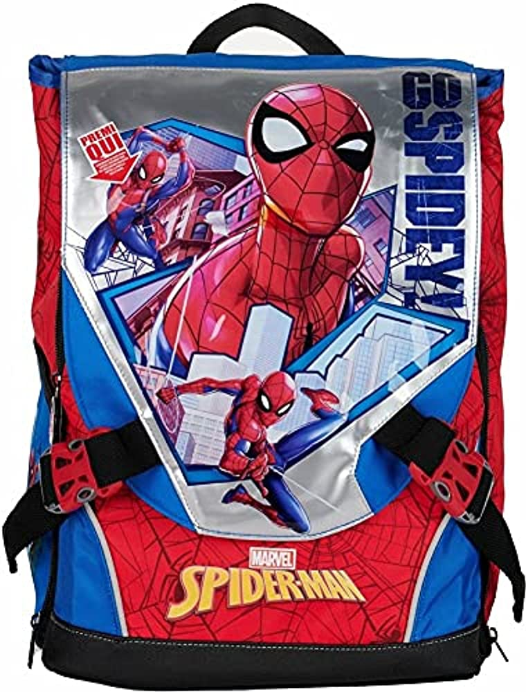 Mamatoy zaino spiderman per la scuola elementare estensibile spidey con effetti luminosi MA934000