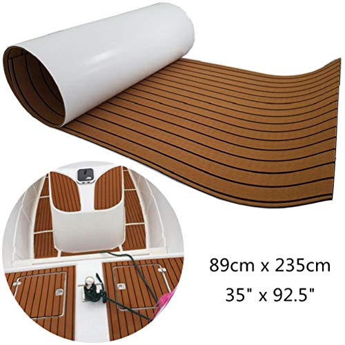 yuanjiasheng 238cm x 90cm Antideslizante Teca Sintetica Barco Cubierta EVA Espuma Marino Alfombras para Barcos