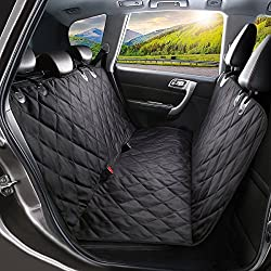 Waterproof & Scratch Proof Design: 600D Oxford Cloth + PP cotton + Slip-proof PVC net create an effective barrier against liquid, keeping the backseat dry and clean. And protect your seat when having fun outdoors, no need to worry the pet scratch the...