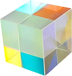 UKCOCO 3 Pack Optical Glass, RGB Dispersion Prism Cube, Perfect for Teaching Light Spectrum Physics (Varied Size)
