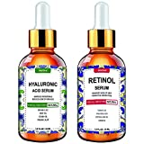 Retinol Serum, Hyaluronic Acid Serum - Envisha Day and Night Serum 2-Pack - Face Serum for All Skin