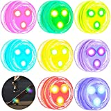 8 Pieces LED Skateboard Lights Underglow Longboard Lights Color Changing Waterproof Lights with Double-Sided Tape for Skateboard Scooter Longboard Bike Bicycle Christmas Party (RGB)