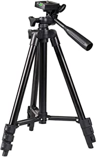 Case Plus 3120 Portable and Foldable Camera Metal Body Mobile Tripod with Clip Holder Bracket, Stand with 3-Dimensional He...