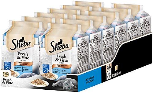 Sheba Fresh & Fine – Nassfutter für Katzen – Im extra kleinen Portionsbeutel - für mehr Variation und Frische, 12 x (6 x 50 g)