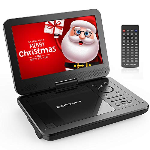 Sale!! 【Upgraded】 DBPOWER Portable DVD Player with 10.5'' Swivel Screen, Supports SD Card/USB/CD...