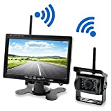 Wireless Backup Camera Ranphykx Waterproof 7' TFT LCD Display with Night Vision Rearview Monitor Kit for Car/Truck/Van/Caravan/Trailers/Camper