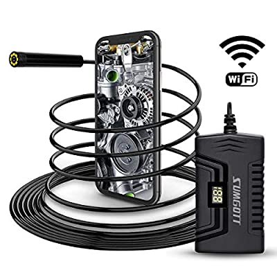 Endoscope, SUMGOTT WiFi Inspection Camera, 1080P HD Wireless Borescope, Waterproof Snake Camera for iOS and Android Smartphone/Tabletnance, Automotive Maintenance, Industrial Testing, Pipeline testin