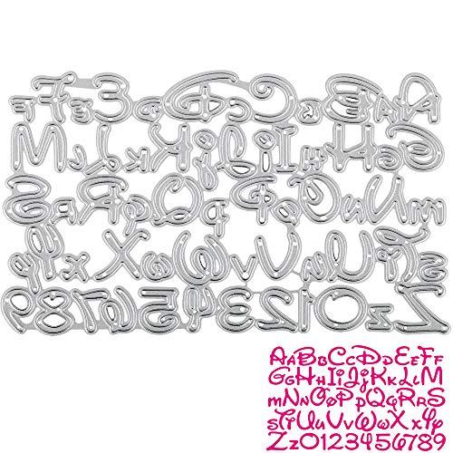 UFLF 1 Juego de Troqueles Letras y Números Troqueles Scrapbooking Alfabeto Metal...