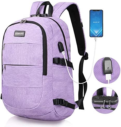 ZOMAKE Laptop Backpack with Lock and USB Charging Port Anti Theft Travel Computer Bag Water product image