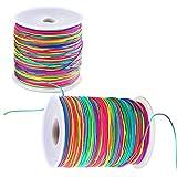 328 Feet Rainbow Elastic Beading Cord 1mm Beading Threads Stretch String Crafting Cords for DIY Bracelets,...