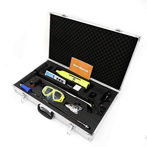OUKANING Kit de equipo de buceo portátil de 500 ml, cilindro, gafas de buceo, bomba de mano de alta presión, equipo de respiración subacuática, tanque de aire