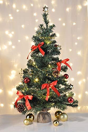 HI Künstlicher Weihnachtsbaum 75 cm Tannenbaum Christbaum Dekobaum beleuchtet und dekoriert