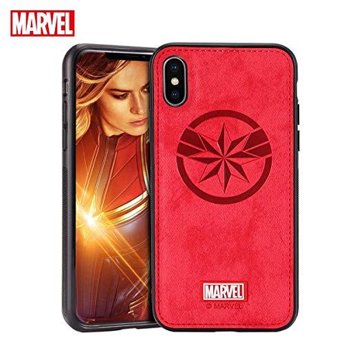 FASTER Funda iPhone X//XS Carcasas Protectora Marvel Avengers para Celular Funda TPU Funda de Cuero 3D Premium Resistente a los Ara/ñazos