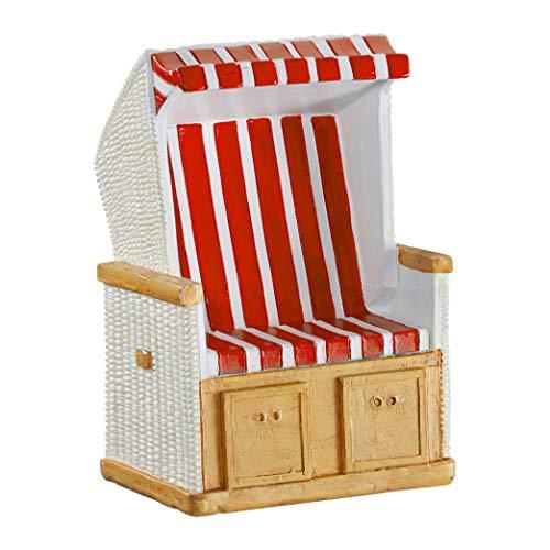 Topshop24you wunderschöne Urlaubskasse,Reisekasse Spardose Strandkorb rot/weiß gestreift Gummistopfen