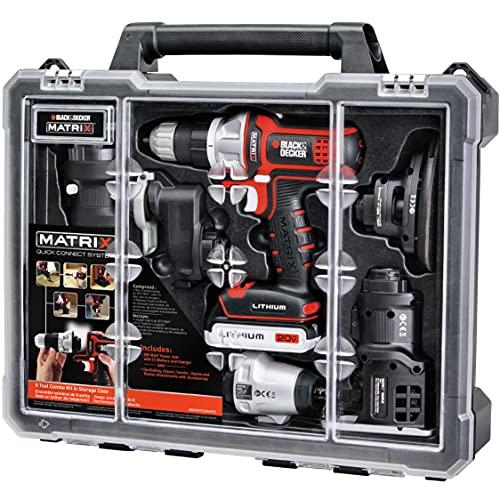 BLACK + DECKER BDCDMT1206KITC Matrix 6 Tool Combo Kit with Case