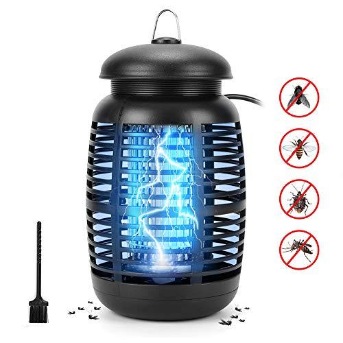Halovie Lampe gegen Mücken, elektrischer Fliegenfänger, UV, 15 W, LED, Mückenvertreiber, für drinnen und draußen, Insektenvernichter, Fliegenfalle, 80 m², effizient, leistungsstark, sicher