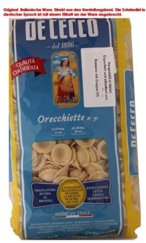 De Cecco Orecchiette no. 91 8 x 500gr Teigwaren aus Hartweizengrieß
