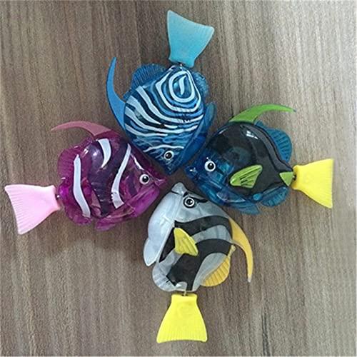 4 STÜCKE Batteriebetriebene Elektrische Schwimmende Fisch Goldfisch Baden Bunte Leuchtende Goldfisch Spielzeug Kinder Badewanne Badewanne Pool Dusche Spielzeug