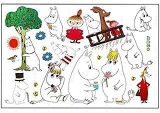 f3bda8592 Fangeplus R DIY Removable Moomin Cartoon Anime Hippo Art Mural Vinyl  Waterproof Wall Stickers Kids Room