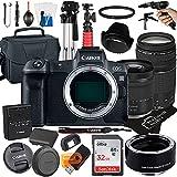 Canon EOS R Mirrorless Digital Camera with RF24-105mm F4-7.1 STM + EF 75-300mm F/4-5.6 III Lens + Mount Adapter EF-EOS R + 32GB Card + Tripod + Case + MegaAccessory Bundle (23pc Bundle) (Sandisk 32GB)