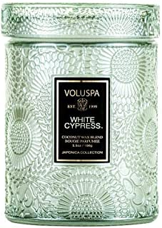 Voluspa Japonica White Cypress small Jar Candle