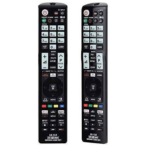 Alkia Universal Luminous Remote Control LG-1LC for LG TV/LEARN/HDTV/ 3D/ LCD/LED, Works with ALL LG Televisions (LED,LCD,Plasma)