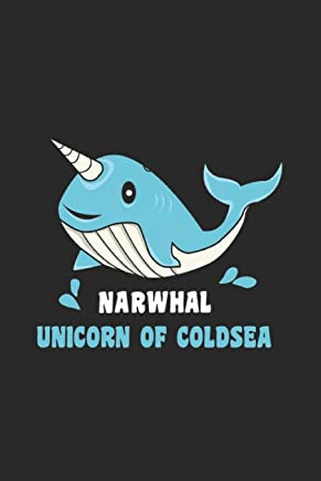 Narwhal Unicorn Of Cold Sea: Sea Life Notebook Under Water Journal for Sharks, Sea Turtles Narwhals, Whales, Dolphins and Fish, office colleagues, ... and To-Do lists,Dot Grid notebook, 120 pages