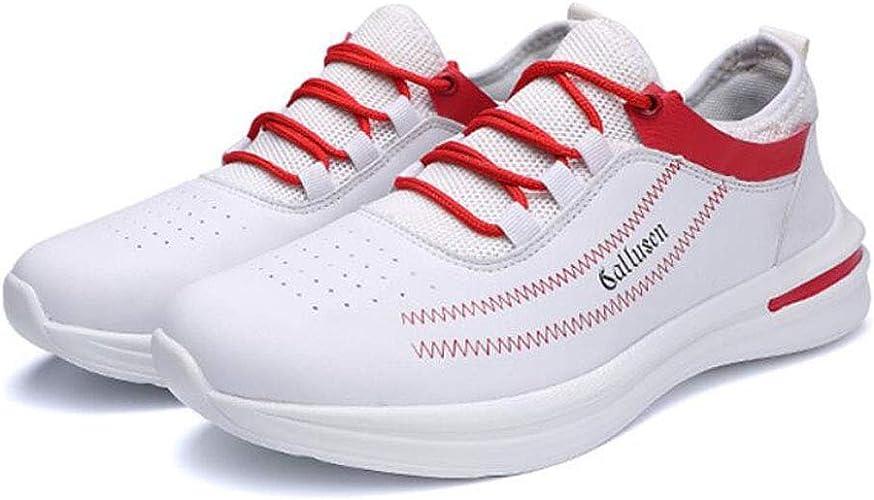 ZIXUAP paniers Blanches pour Hommes Printemps et Eté Tendance de la Mode Chaussures Décontractées Chaussures de Sport en Plein air Chaussures de Course Chaussures Confortables pour Hommes Sauvages