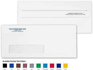 CheckSimple No. 10 Custom Printed White Envelopes - Single Window, Self Seal (1000 Envelopes)