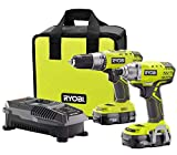 RYOBI 18V ONE+ Lithium-Ion Cordless Drill/Driver and Impact Driver Combo Kit (2-Tool) with (2) Batteries