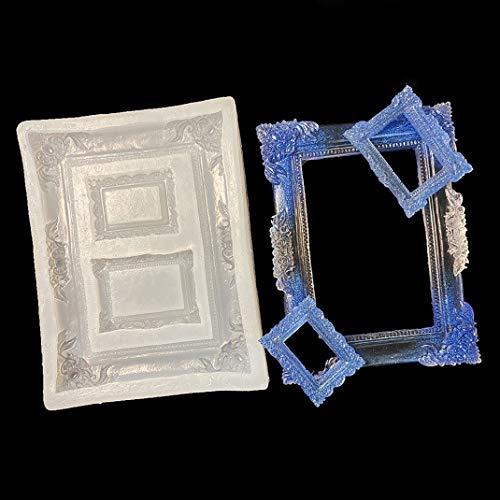 iSuperb Molde de Silicona Marco de Fotos Molde de Decoración DIY Moldes Resina Silicone Mold para Artesanal Fondant Pastel (Photo Frame Mold)