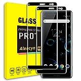ALEECYN Cristal Templado para Sony Xperia XZ3, Dureza 9H, Anti - arañazos Anti-Rasguño,Fácil de Instalar, Vidrio Templado Protector de Pantalla para Sony Xperia XZ3 [2 pezzi]