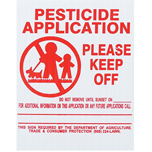 25x GEMPLER'S Wisconsin State Pesticide Application Signs – Rigid...