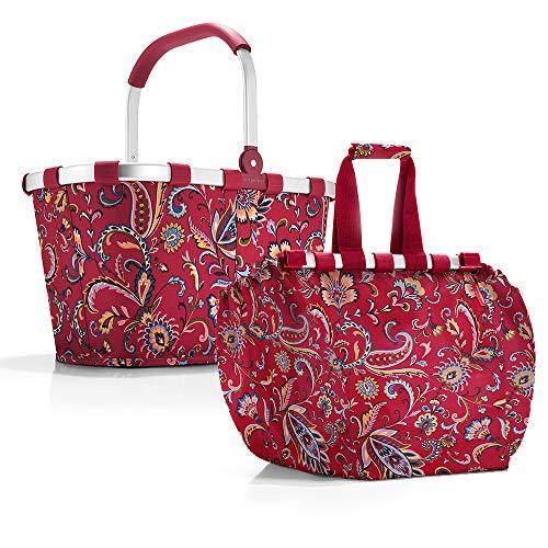 reisenthel Carrybag Einkaufskorb Einkaufstasche Easybag Shoppingtasche Korb Falttasche Einkaufskorb Picknickkorb Shoppingbag Klappkorb (paisley ruby)