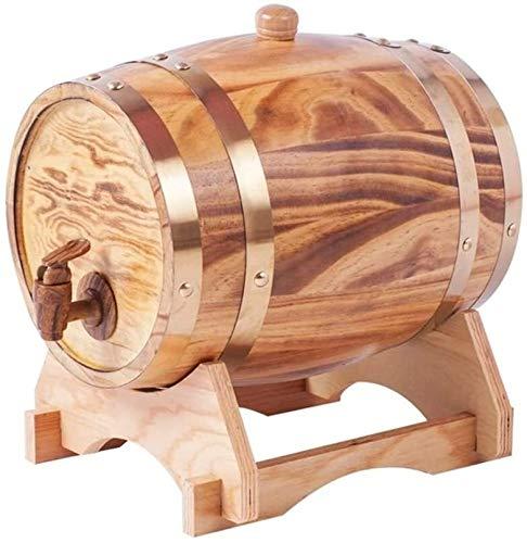 WYKDL 3 Liter Eiche Alterungs Whiskey Barrel Handgefertigte White Oak Alter Ihre eigenen Whiskey Bier Wein Bourbon Tequila Hot Sauce & More (Color : Light Burnt, Size : 3L(23 * 18 * 26cm))