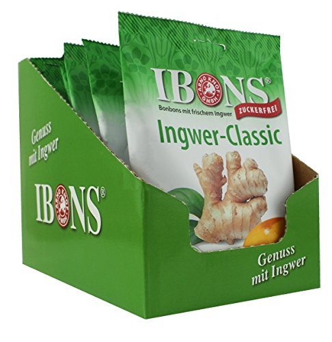 IBONS Lutschbonbons 10 x 75g zuckerfrei (Ingwer-Classic)