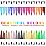 <span class='highlight'><span class='highlight'>AOZBZ</span></span> Dual Tip Brush Pens with Fine-Liner Tip Dual Tip Marker Pens Water Based Ink for DIY Coloring Book Sketching Painting Drawing Art Marker Pens
