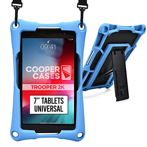 Cooper Trooper 2K Custodia Robusta per Tablet da 7 Pollici (17,78 cm)| Protettiva per Bambini Resistente agli Urti, Resistente agli Urti, Il Trasporto (Blu)