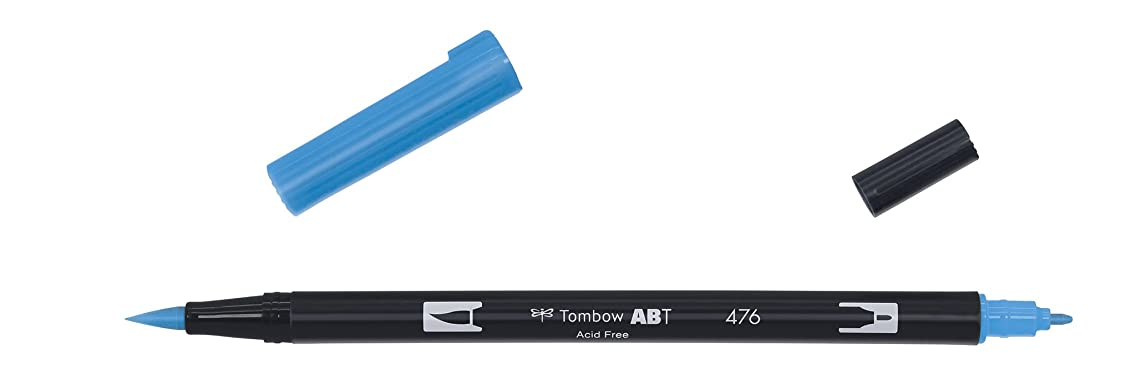 Tombow Dual brush-476?–?Marker Twin TIP Brush?–?Cyan