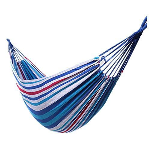 Hamaca portátil para Acampar, Hamaca para Acampar al Aire Libre de Viaje, Columpio Capacidad de cojinete Fuerte Silla Colgante Perezosa Hamacas de jardín 200X100mm